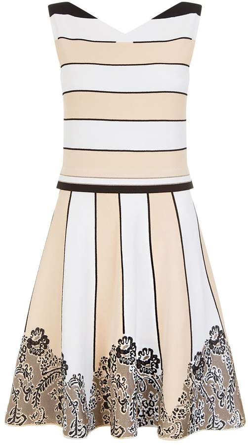 D-Exterior D.Exterior Striped Fit-And-Flare Dress