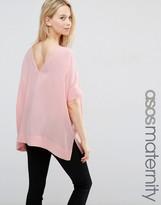 Asos Oversized Kimono T-Shirt With V Back