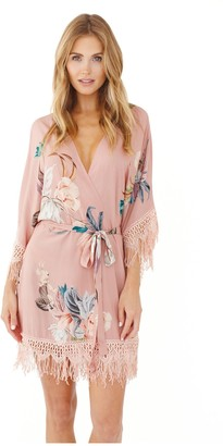 Plum Pretty Sugar Hibiscus Robe