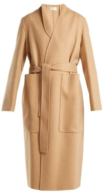 The Row Paret Double-faced Wool And Cashmere-blend Coat - Womens - Camel