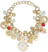 Charter Club Holiday Lane Gold-Tone Holiday Timepiece Charm Bracelet, Created for Macy's