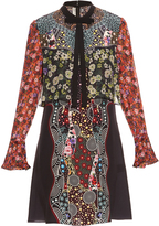 Mary Katrantzou Milana Cosmo Gardenia-print silk dress
