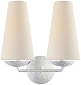 AERIN Fontaine Double Sconce - Plaster White