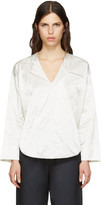 Nomia Ivory Deep V-neck Blouse