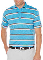 Callaway Golf Performance Heathered Stripe Printed Polo