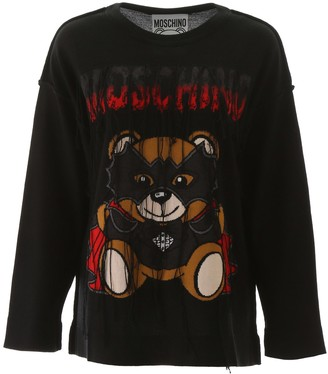 Moschino Bat Teddy Bear Sweater