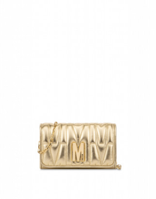 Moschino M Quilted Evening Bag Woman Gold Size U It - (one Size Us)