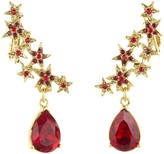 Oscar de la Renta Star and Teardrop Earrings