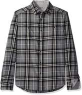 Kenneth Cole Reaction Men's Long Sleeve Two-Pocket Plaid Shirt