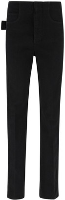 Bottega Veneta Textured Trim Straight-Leg Jeans