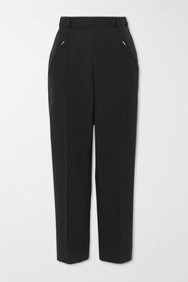 Maison Margiela Cropped Twill Straight-leg Pants - Black