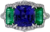 INBAR Tanzanite And Emerald Ring