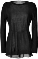 Philosophy di Alberta Ferretti Wool/Chiffon Top