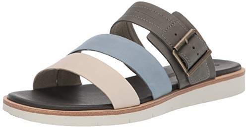 Grey Summer Full Sandals Women's Slide Shore Grain Adley Flat Ygf6vb7y