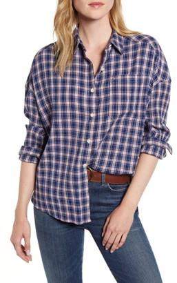 Alex Mill Plaid Oversize Cotton Gauze Shirt