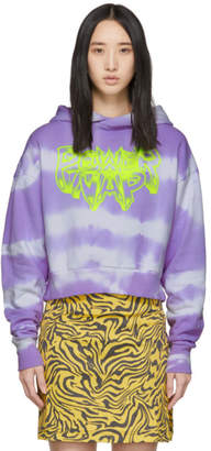 Ashley Williams SSENSE Exclusive Purple Tie-Dye Power Nap Hoodie