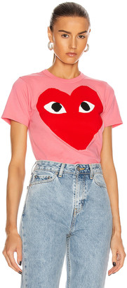 Comme des Garcons Tee in Pink   FWRD