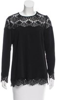 Zimmermann Lace-Accented Long Sleeve Top