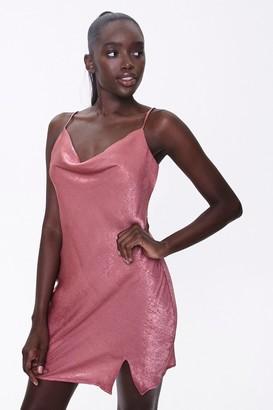 Forever 21 Satin Cowl-Neck Dress