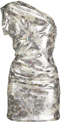 IRO Floral One-Shoulder Dress