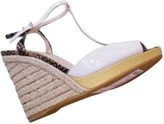Fendi White Patent leather Espadrilles