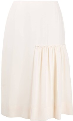 Salvatore Ferragamo Gathered-Detail Midi Skirt
