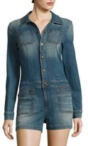 True Religion Long Sleeve Denim Romper