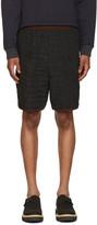 Kolor Black Contrast Waistband Shorts