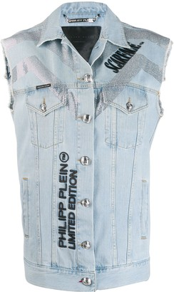 Philipp Plein Scarface Denim Vest