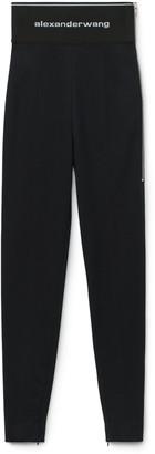 Collection Logo Elastic Zip Legging