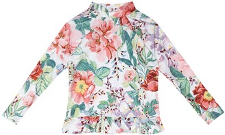 Zimmermann Kids Bellitude floral swim top