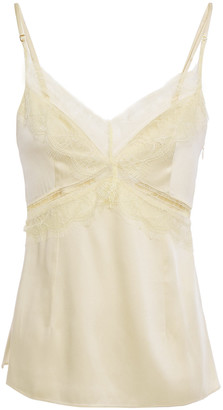 GOEN.J Chantilly Lace-trimmed Satin-twill Camisole