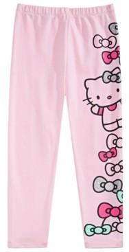 Hello Kitty Little Girls Bow-Print Leggings