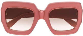 Gucci chunky square frame sunglasses