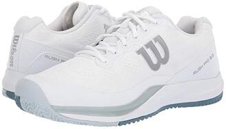 Wilson Rush Pro 3.0 (White/Pearl Blue/Bluestone) Men's Tennis Shoes