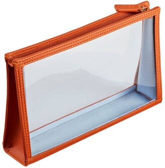 Stow See-View Leather Essentials Pouch