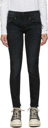 R13 Black Skinny Boy Jeans
