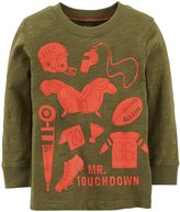 Carter's Mr Touchdown Tee (Baby) - Olive-24 Months