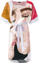 Stine Goya portrait print belt dress
