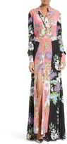 Diane von Furstenberg Women's Floral Maxi Shirtdress