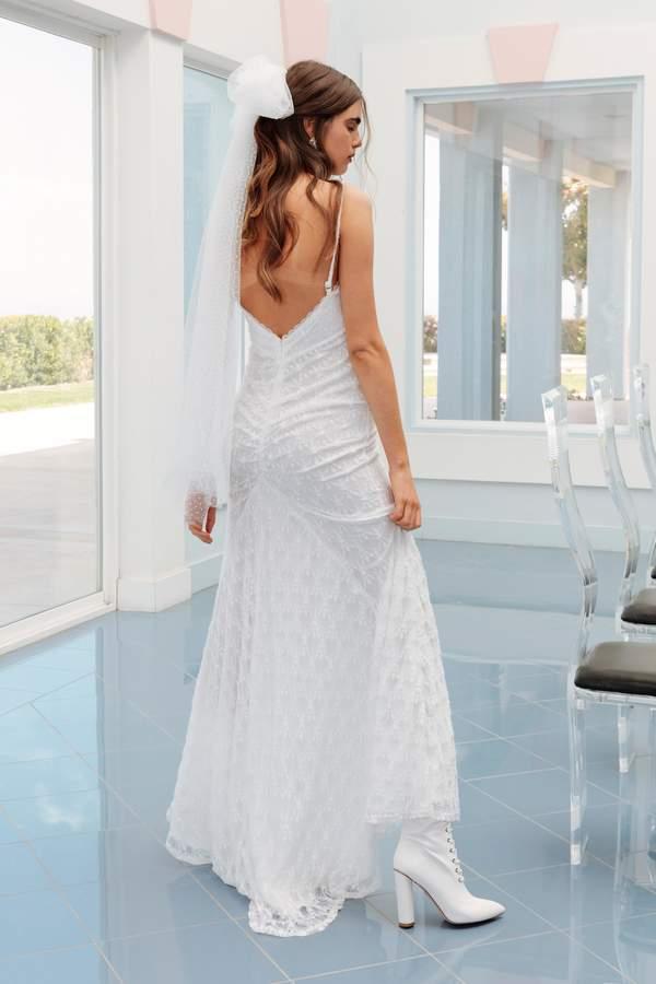 Nasty Gal Womens I Got You Babe Lace Maxi Bridal Dress - White - 8, White