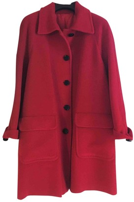 Non Signã© / Unsigned Non SignA / Unsigned Oversize Red Wool Coats