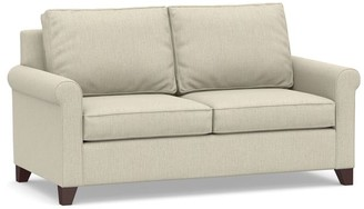 Pottery Barn Cameron Roll Arm Upholstered Sleeper Sofa with Air Topper