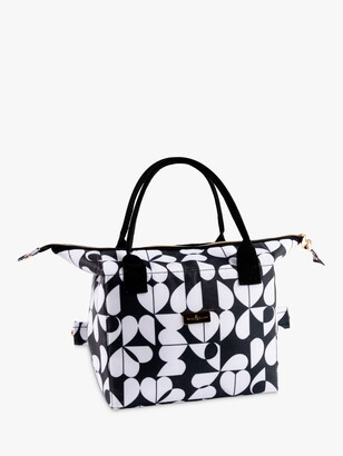 Beau & Elliot Hearts Insulated Convertible Lunch Cooler Tote Bag, 7L, Black/White