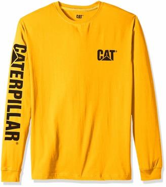 Caterpillar Men's Big and Tall Trademark Banner Long Sleeve T-Shirt