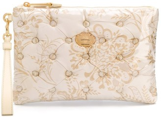 Moschino Jacquard Floral Pattern Clutch