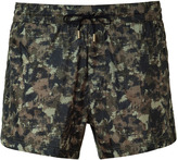 D&G Dolce & Gabbana Olive Abstract Camouflage Print Trunks