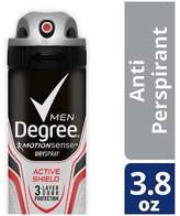 Degree Men MotionSense Antiperspirant Deodorant Dry Spray Active Shield