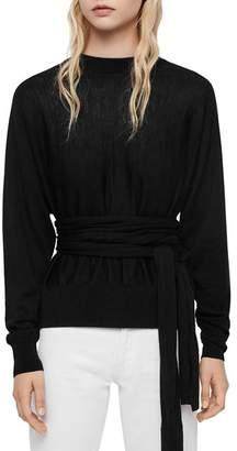 AllSaints Flora Tie-Waist Sweater