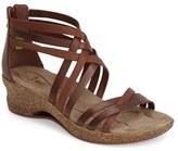 Ahnu Women's 'Trolley' Leather Wedge Sandal